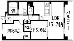 ビオラベール[5階]の間取り
