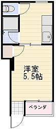 長野県長野市青木島1丁目の賃貸マンションの間取り