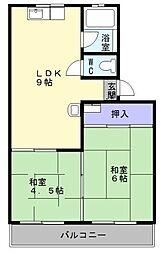 大阪府堺市西区浜寺船尾町西2丁の賃貸アパートの間取り