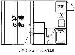 新潟県新潟市中央区鐙2丁目の賃貸アパートの間取り