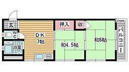 豊田マンション[405号室]の間取り