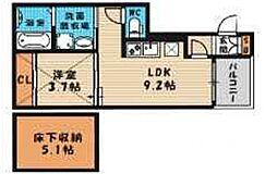 (仮称)西淀川区歌島一丁目・SKHコーポ[101号室号室]の間取り