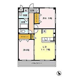 メゾンFIGARO[2階]の間取り
