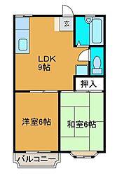 メゾンKEI[2階]の間取り