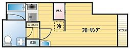 フローリエ細山F[102号室]の間取り