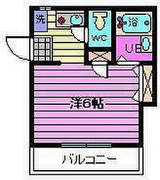 埼玉県さいたま市大宮区堀の内町1丁目の賃貸アパートの間取り