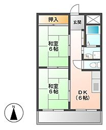 インターシティ黒川[4階]の間取り