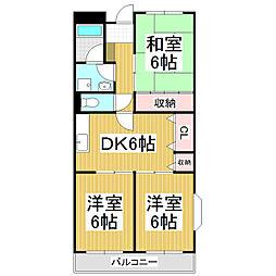 スカイパーク早川[2階]の間取り