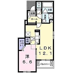 セレノベルカーサ B[1階]の間取り