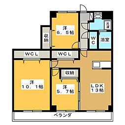 Refuge・F[2階]の間取り