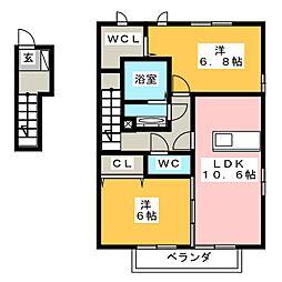 KOWLOON S[2階]の間取り