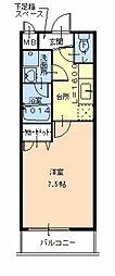 大阪府堺市北区東上野芝町2丁の賃貸アパートの間取り