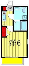ベルメント平賀[1階]の間取り