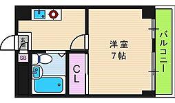 グランビルド阿倍野[4階]の間取り