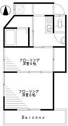 高千穂荘[2階]の間取り
