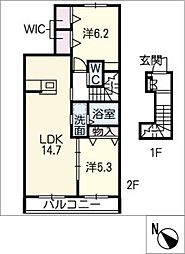 仮)日進市浅田町メゾン[2階]の間取り