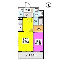 SOPHIA TOKUNAGAIII 4階1LDKの間取り