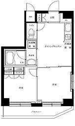 東京都大田区山王4丁目の賃貸マンションの間取り
