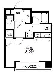 C-WING(シーウイング)[3階]の間取り