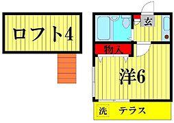 ジュネパレス松戸第27[105号室]の間取り