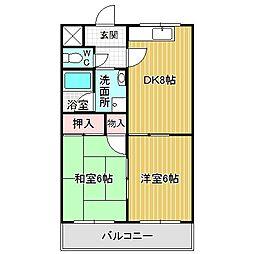 愛知県名古屋市中川区南脇町1丁目の賃貸マンションの間取り