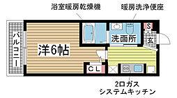 エステムプラザ神戸三宮ルクシア[1112号室]の間取り