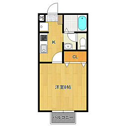 セジュールYOU[1階]の間取り