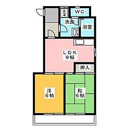 ジョイ神宮[1階]の間取り