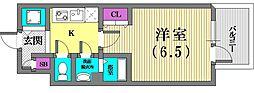 エスリード神戸三宮[2階]の間取り