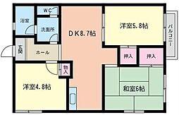 神奈川県横浜市泉区和泉中央南3丁目の賃貸アパートの間取り