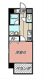 福岡県北九州市小倉南区下曽根新町の賃貸マンションの間取り