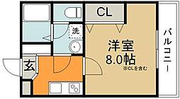 モダンアパートメント池田桃園[1階]の間取り