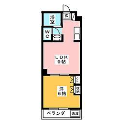 ディオネ四ッ谷II[4階]の間取り