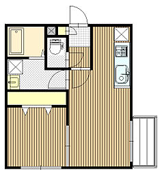 Kafuu Residence N35 (カフーレジデンス)[4階]の間取り