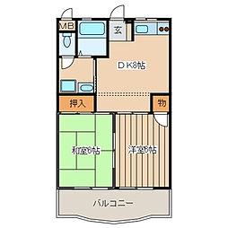 メルベーユ・オークラ[3階]の間取り