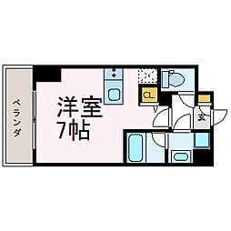 スクエア・アパートメント[1107号室]の間取り