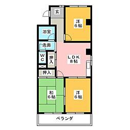 美杉マンション[1階]の間取り