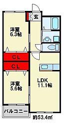 アドバンスM-2[2階]の間取り