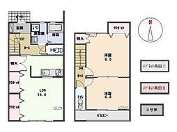 メゾネット高田II[202号室]の間取り