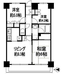 シティホームズ東戸塚[504号室]の間取り