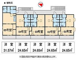 エクセレントアパートメント平塚[205号室号室]の間取り