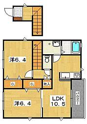 さくら隅田口[2階]の間取り