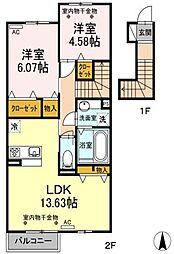 仮)D-room鷲巣[2階]の間取り