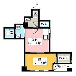 金山プログレス[4階]の間取り