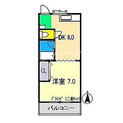 ドリームハウス1[3階]の間取り