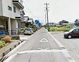 前面道路。閑静な住宅街です。
