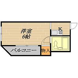 大樹ハイツII[4階]の間取り