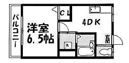 ハイツ吉茂[202号室号室]の間取り