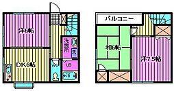 [テラスハウス] 埼玉県さいたま市中央区上峰4丁目 の賃貸【埼玉県 / さいたま市中央区】の間取り