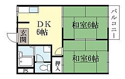 タウニィ陽光[2階]の間取り